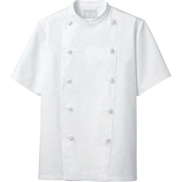住商モンブラン MONTBLANC(モンブラン) コックコート 兼用 半袖 白 L KS6622-2(直送品)