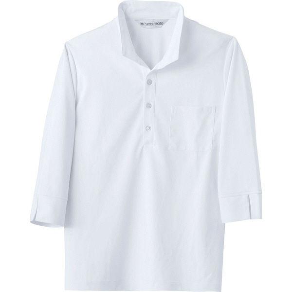 住商モンブラン Careermate(キャリアメイト) ニットシャツ 兼用 7分袖 白 L MC2711(直送品)