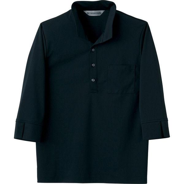 住商モンブラン Careermate(キャリアメイト) ニットシャツ 兼用 7分袖 黒 LL MC2713(直送品)