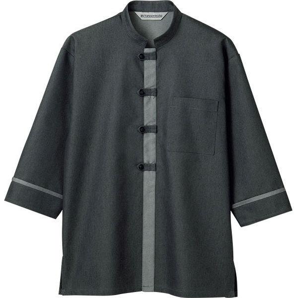 住商モンブラン Careermate(キャリアメイト) シャツジャケット 兼用 7分袖 黒 LL MC6951(直送品)