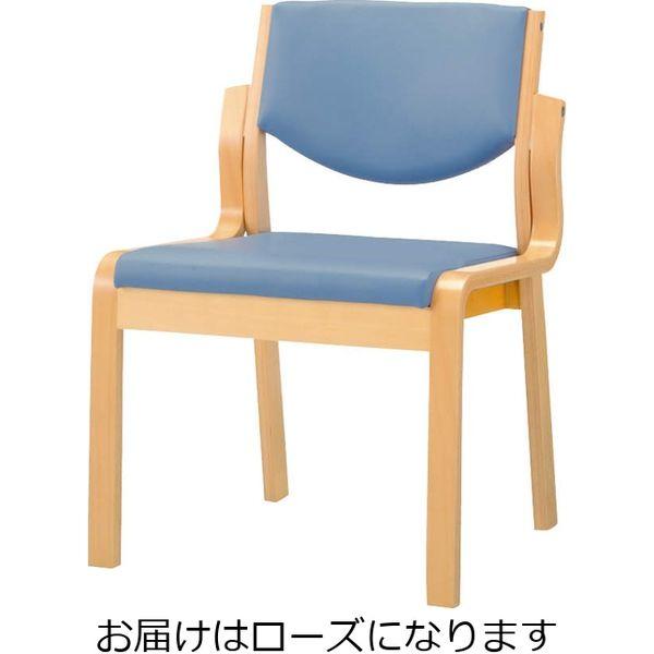 ライオン事務器 木製イスNo.630SNローズ 49851(直送品)