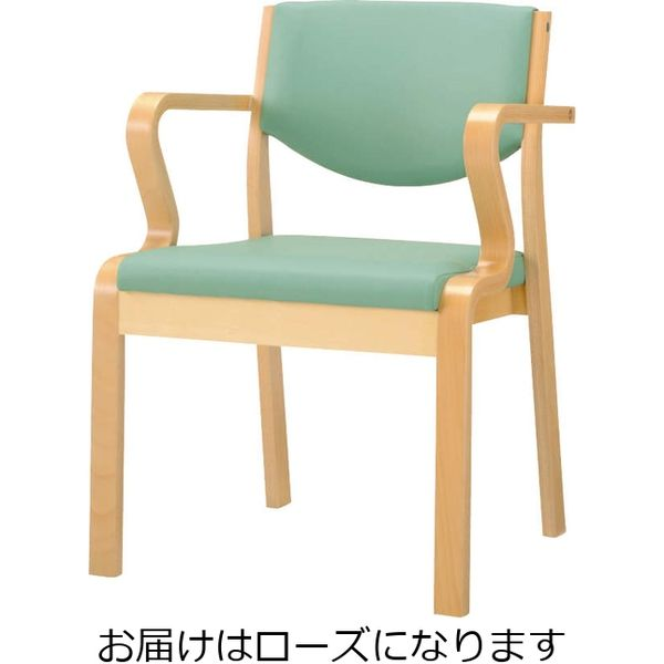 ライオン事務器 木製イスNo.631SNローズ 49854(直送品)