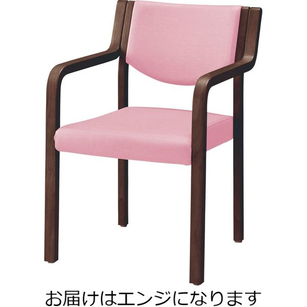 ライオン事務器 木製イスNo.692S(DBR)エンジ 69766(直送品)