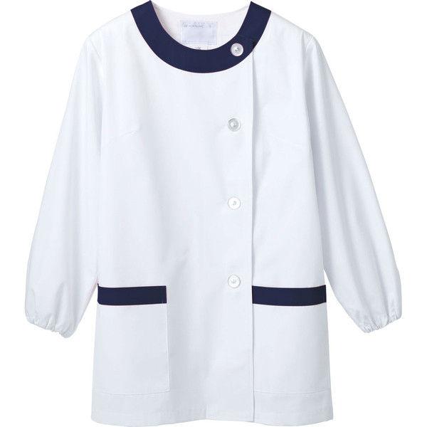 住商モンブラン MONTBLANC(モンブラン) 調理衣 レディス 長袖 白/紺 S 1-091(直送品)