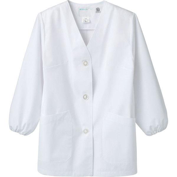 住商モンブラン MONTBLANC(モンブラン) 調理衣 レディス 長袖 エコ 白 S 1-411(直送品)