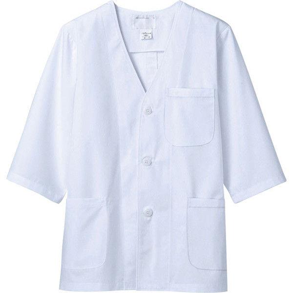 住商モンブラン MONTBLANC(モンブラン) 調理衣 メンズ 7分袖 白 S 1-615(直送品)