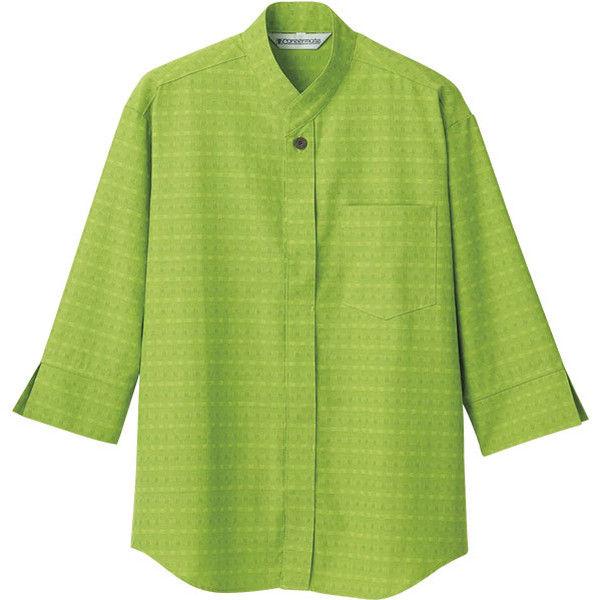 住商モンブラン Careermate(キャリアメイト) シャツ 兼用 7分袖 グリーン S MC6955(直送品)