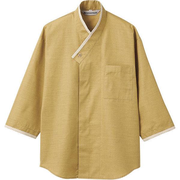 住商モンブラン Careermate(キャリアメイト) シャツ 兼用 7分袖 カラシ/ベージュ S MC6977(直送品)