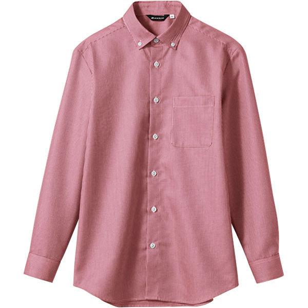住商モンブラン MONTBLANC(モンブラン) シャツ 兼用 長袖 ワインチェック SS WC2611-5(直送品)