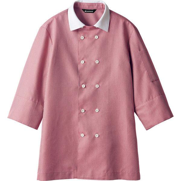 住商モンブラン MONTBLANC(モンブラン) シャツ 兼用7分袖 ワインチェック/白 SS WC2631-5(直送品)