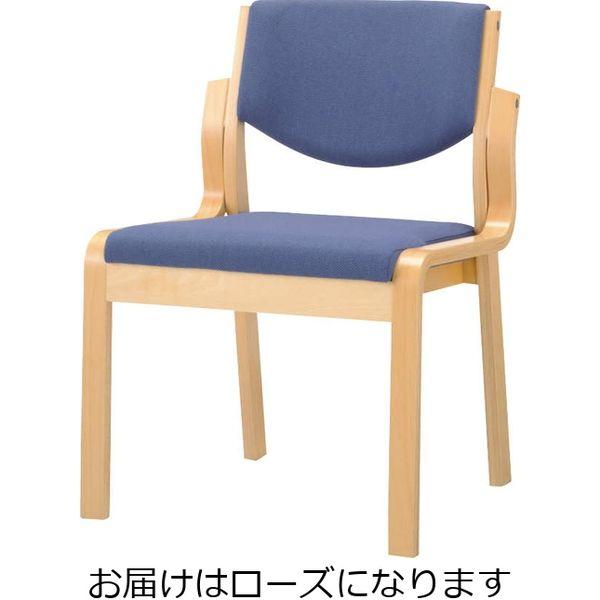 ライオン事務器 木製イスNo.630FGローズ 49887(直送品)