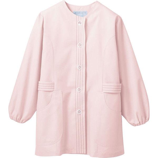 住商モンブラン MONTBLANC(モンブラン) 調理衣 レディス 長袖 ピンク 3L 1-073(直送品)