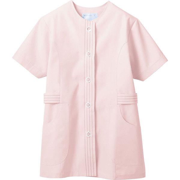 住商モンブラン MONTBLANC(モンブラン) 調理衣 レディス 半袖 ピンク L 1-074(直送品)