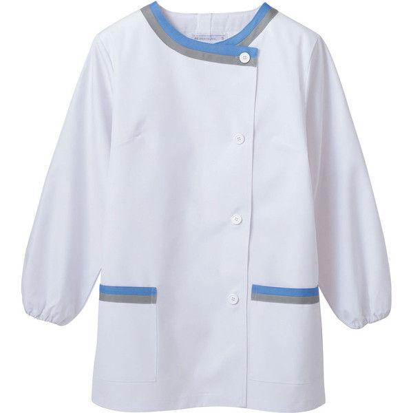 住商モンブラン MONTBLANC(モンブラン) 調理衣 レディス長袖 白/サックス/グレー 3L 1-161(直送品)