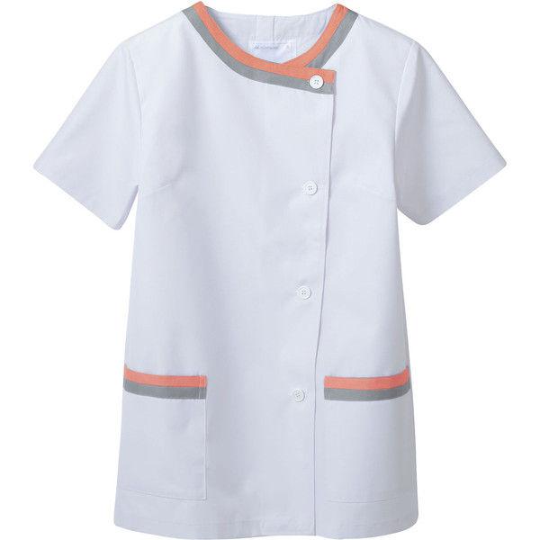 住商モンブラン MONTBLANC(モンブラン) 調理衣 レディス 半袖 白/ピンク/グレー 3L 1-164(直送品)