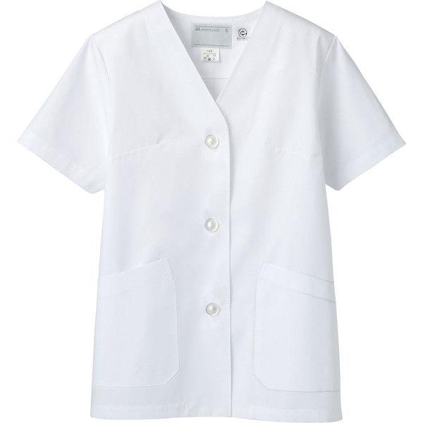 住商モンブラン MONTBLANC(モンブラン) 調理衣 レディス 半袖 エコ 白 4L 1-432(直送品)