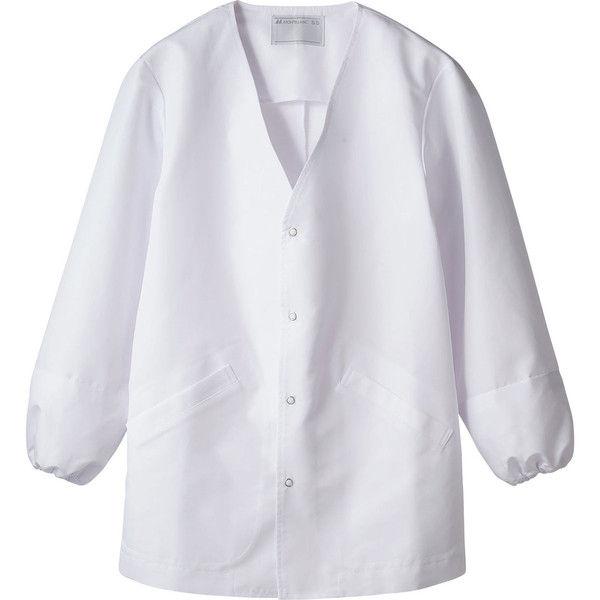 住商モンブラン MONTBLANC(モンブラン) 調理衣 兼用 長袖 袖ネット 白 L 1-551(直送品)