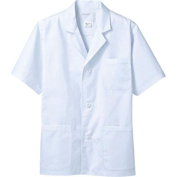 住商モンブラン MONTBLANC(モンブラン) 調理衣 メンズ 半袖 白 LL 1-602(直送品)