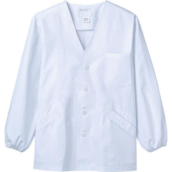 住商モンブラン MONTBLANC(モンブラン) 調理衣 メンズ 長袖 ゴム入り 白 M 1-611(直送品)