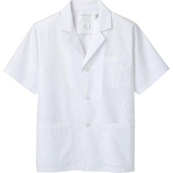 住商モンブラン MONTBLANC(モンブラン) 調理衣 メンズ 半袖 エコ 白 LL 1-822(直送品)