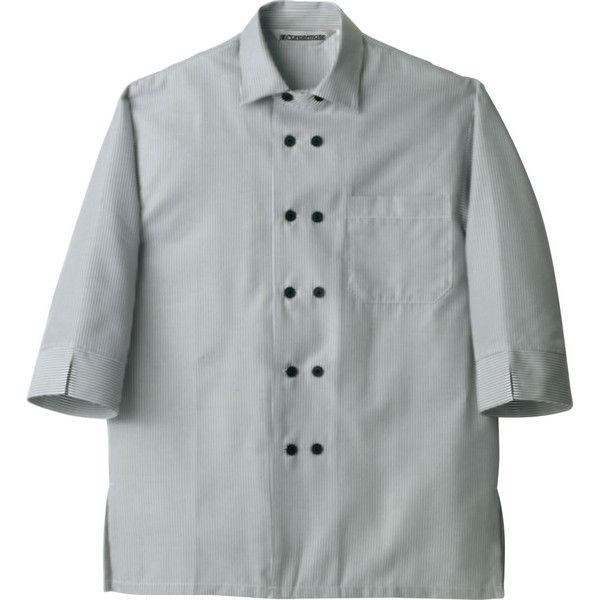 住商モンブラン Careermate(キャリアメイト) シャツ 兼用 7分袖 グレーストライプ LL MC7355(直送品)