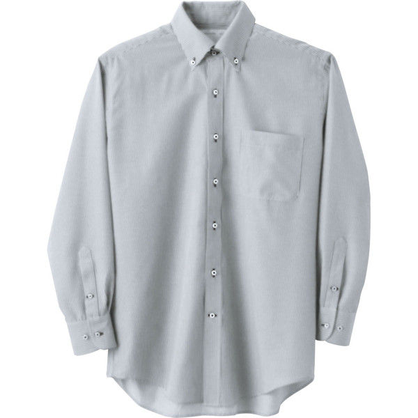 住商モンブラン Careermate(キャリアメイト) シャツ 兼用 長袖 グレーストライプ LL MC7375(直送品)