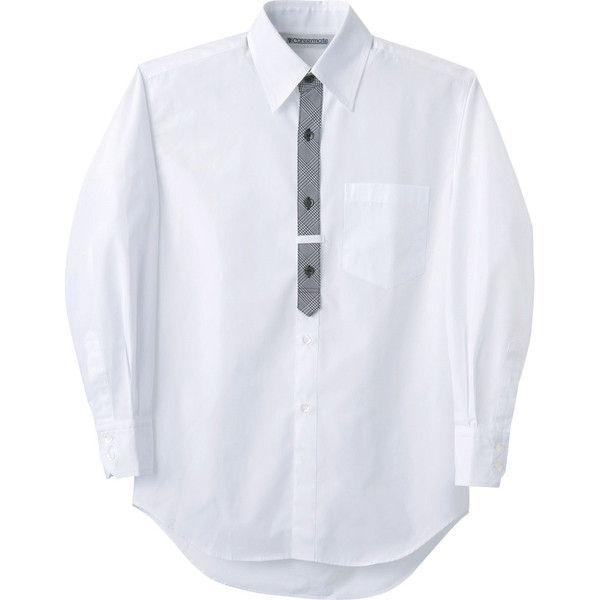住商モンブラン Careermate(キャリアメイト) シャツ 兼用 長袖 白 LL MC7421(直送品)