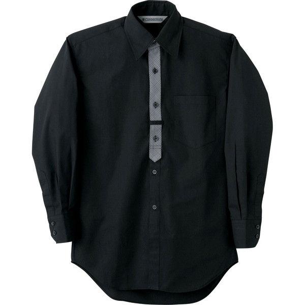 住商モンブラン Careermate(キャリアメイト) シャツ 兼用 長袖 黒 LL MC7425(直送品)