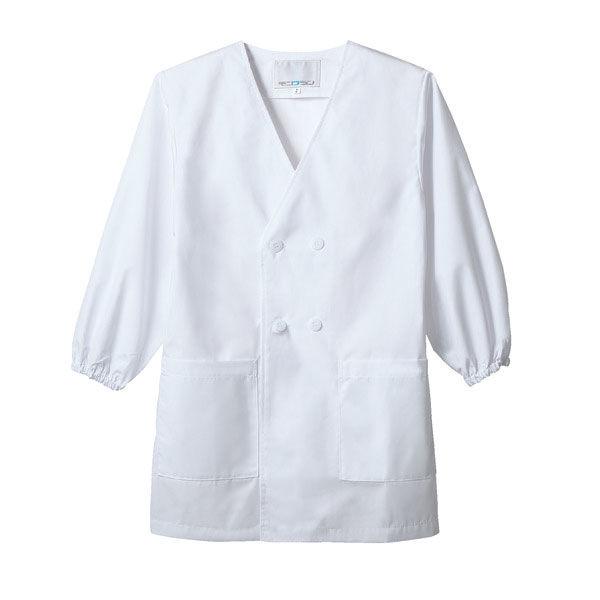 住商モンブラン MONTBLANC(モンブラン) ダブル型給食衣 児童用 長袖 白 6号 PE101-2(直送品)