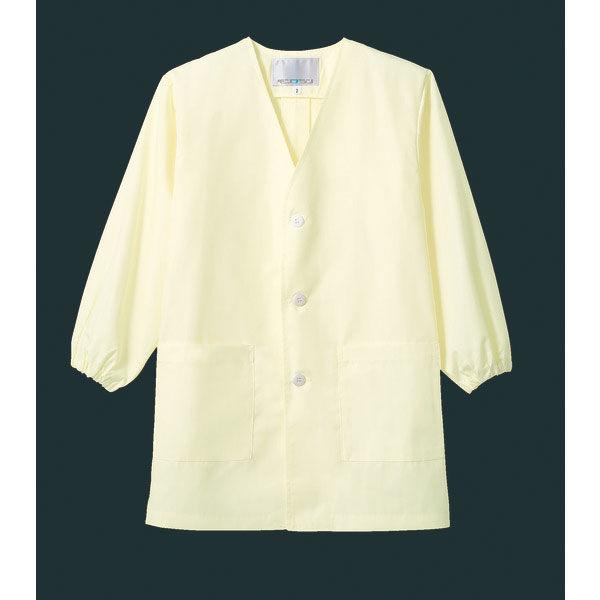 住商モンブラン MONTBLANC(モンブラン) シングル型給食衣 児童用 長袖 イエロー 8号 PE111-5(直送品)