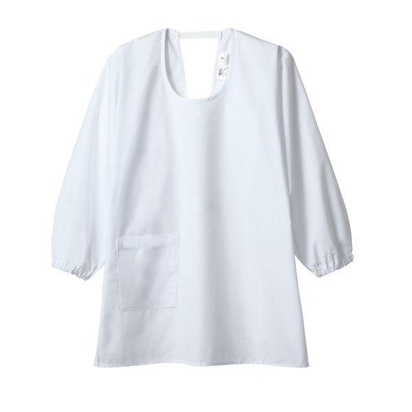 住商モンブラン MONTBLANC(モンブラン) カッポウ型給食衣 児童用 長袖 白 8号 PE401-2(直送品)