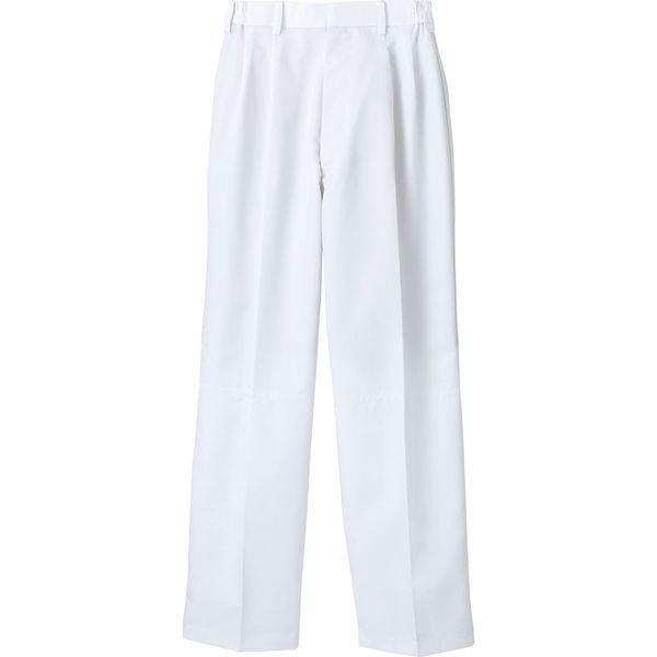 住商モンブラン MONTBLANC(モンブラン) パンツ 兼用 裾インナー付 白 L RS7511-2(直送品)