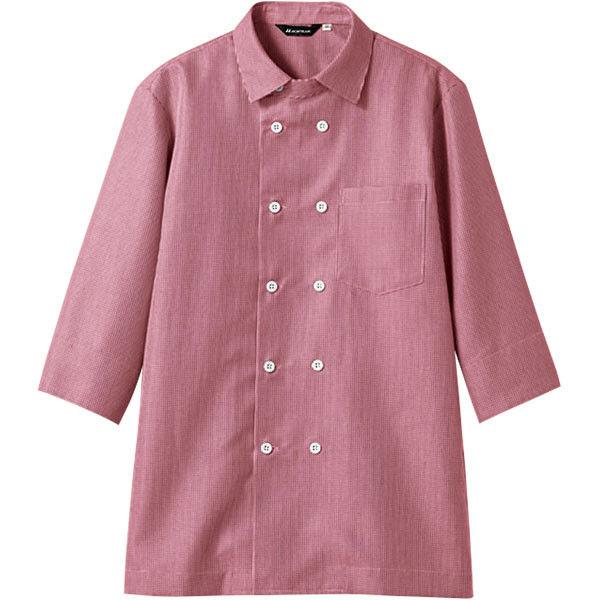 住商モンブラン MONTBLANC(モンブラン) シャツ 兼用 7分袖 ワインチェック S WC2621-5(直送品)