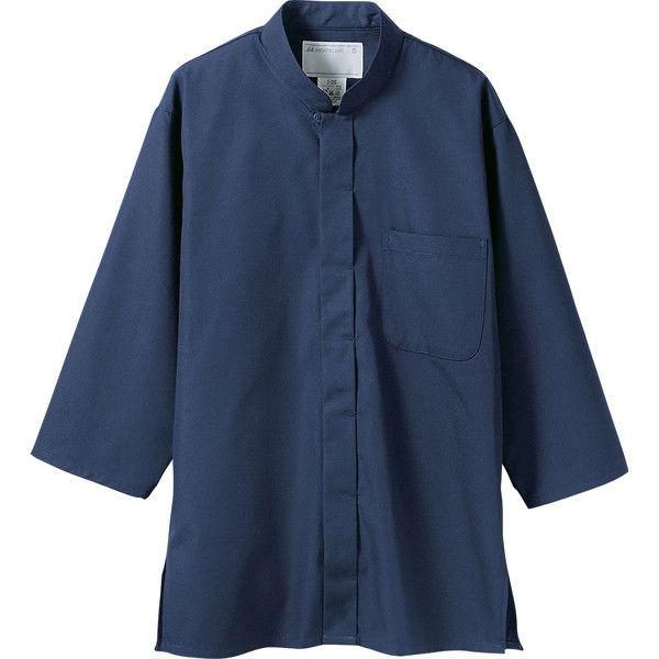 住商モンブラン MONTBLANC(モンブラン) 調理シャツ 兼用 7分袖 紺 S 2-237(直送品)