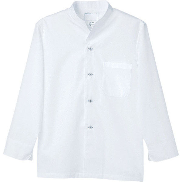 住商モンブラン MONTBLANC(モンブラン) 調理シャツ 兼用 長袖 白 S 2-341(直送品)