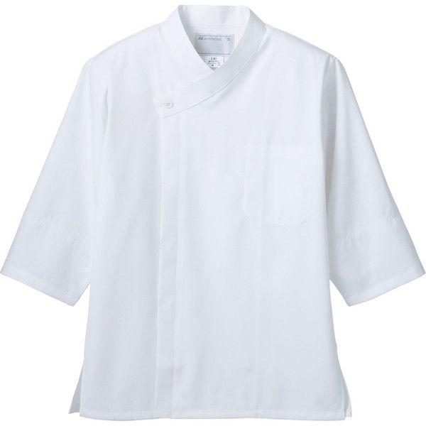 住商モンブラン MONTBLANC(モンブラン) 調理コート 兼用 7分袖 袖ネット付 白 S 2-661(直送品)
