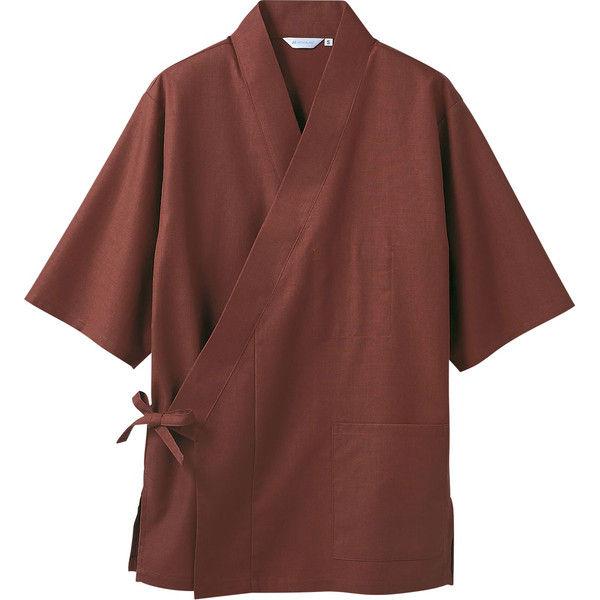 住商モンブラン MONTBLANC(モンブラン) はっぴ 兼用 7分袖 茶 S 3-578(直送品)