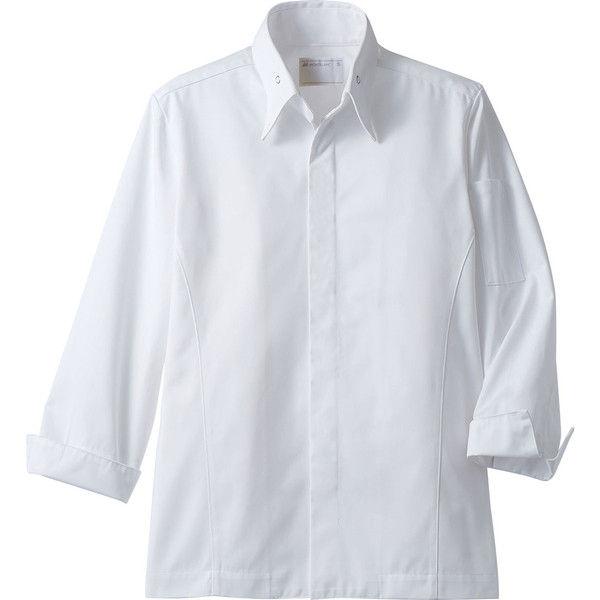 住商モンブラン MONTBLANC(モンブラン) コックコート 兼用 長袖 白 SS 6-1021(直送品)