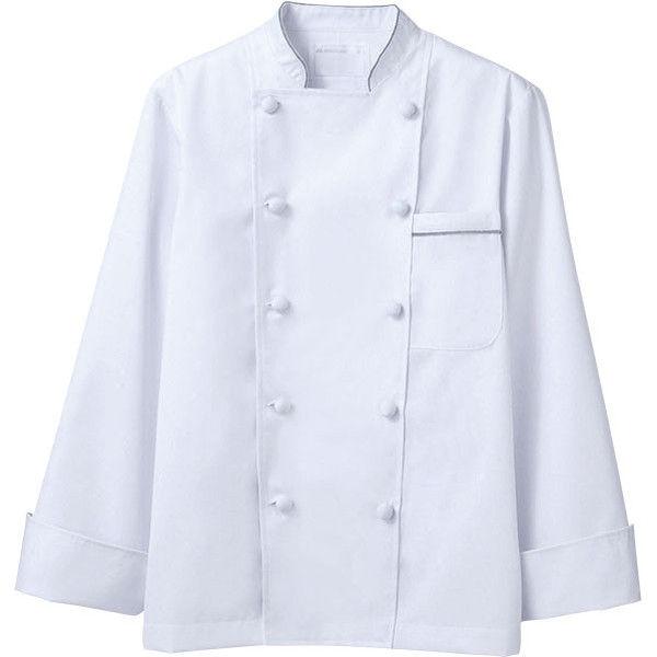 住商モンブラン MONTBLANC(モンブラン) コックコート 兼用 長袖 白/グレー S 6-971(直送品)