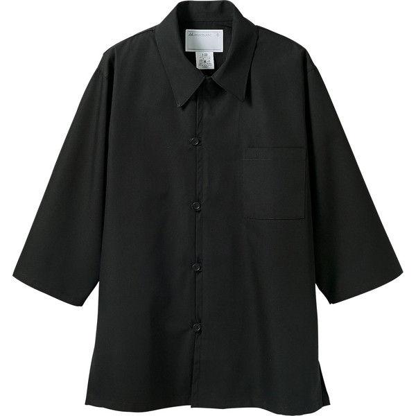 住商モンブラン MONTBLANC(モンブラン) 調理シャツ 兼用 7分袖 黒 3L 2-225(直送品)