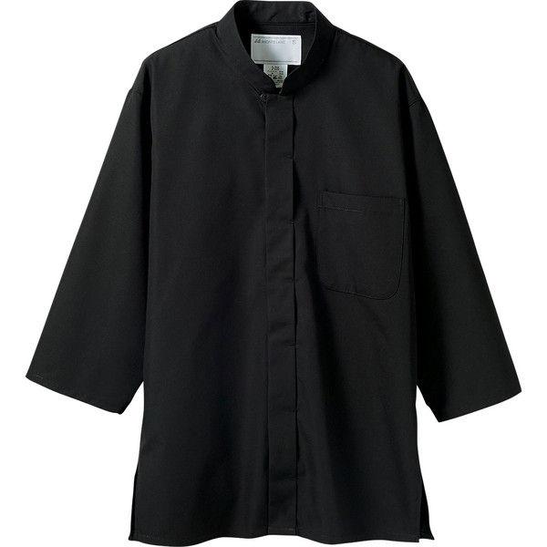 住商モンブラン MONTBLANC(モンブラン) 調理シャツ 兼用 7分袖 黒 3L 2-235(直送品)