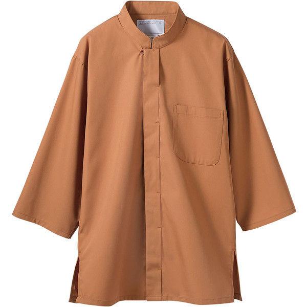 住商モンブラン MONTBLANC(モンブラン) 調理シャツ 兼用 7分袖 茶 LL 2-239(直送品)
