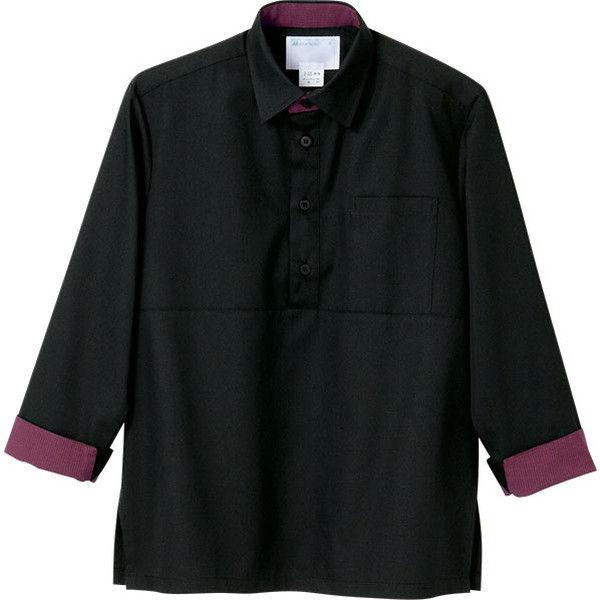 住商モンブラン MONTBLANC(モンブラン) プルオーバー 兼用 長袖 黒/エンジ 3L 2-325(直送品)
