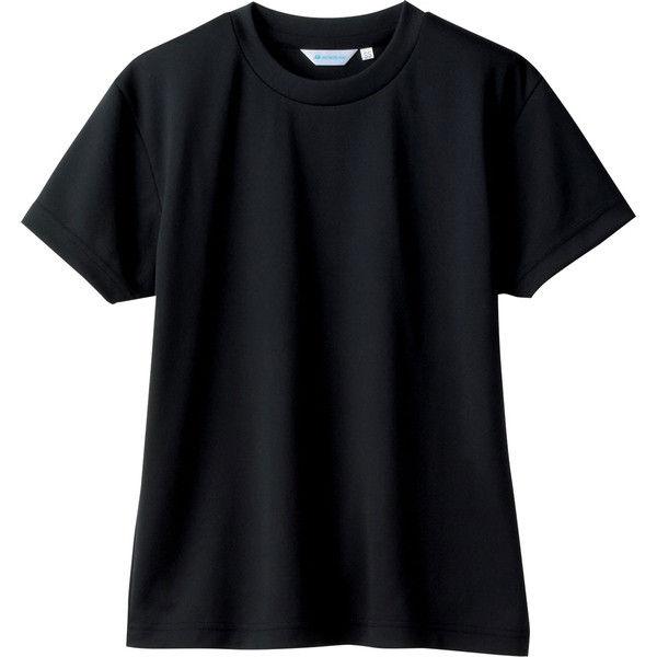 住商モンブラン MONTBLANC(モンブラン) Tシャツ 兼用 半袖 袖ネット付 黒 S 2-512(直送品)