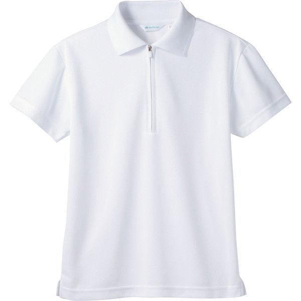 住商モンブラン MONTBLANC(モンブラン) ポロシャツ 兼用 半袖 袖ネット付 白 L 2-571(直送品)