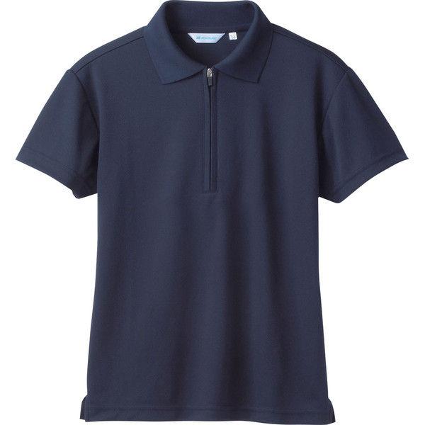 住商モンブラン MONTBLANC(モンブラン) ポロシャツ 兼用半袖 袖ネット付 ネイビー M 2-573(直送品)