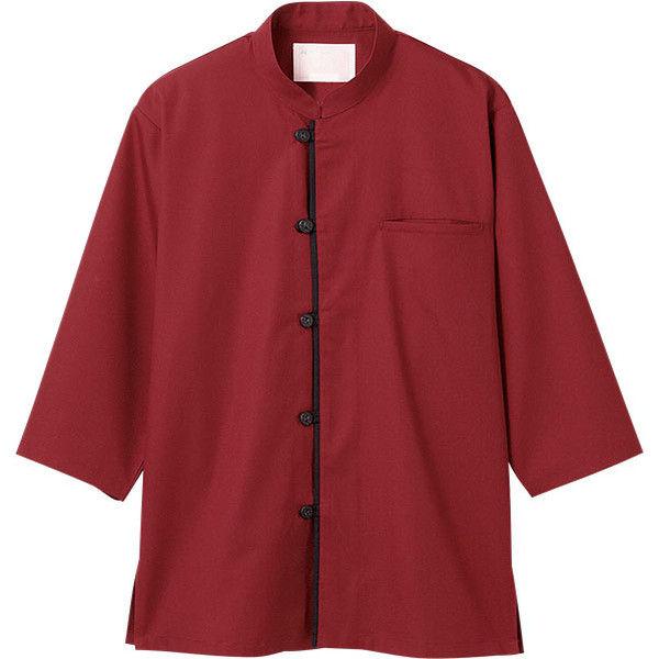 住商モンブラン MONTBLANC(モンブラン) 調理シャツ 兼用 7分袖 エンジ/黒 LL 2-635(直送品)