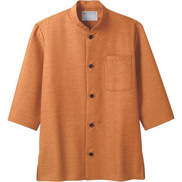住商モンブラン MONTBLANC(モンブラン) シャツ 兼用 7分袖 オレンジ 3L 2-717(直送品)