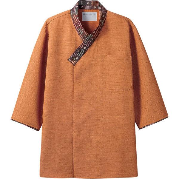 住商モンブラン MONTBLANC(モンブラン) シャツ 兼用 7分袖 オレンジ/茶 LL 2-727(直送品)