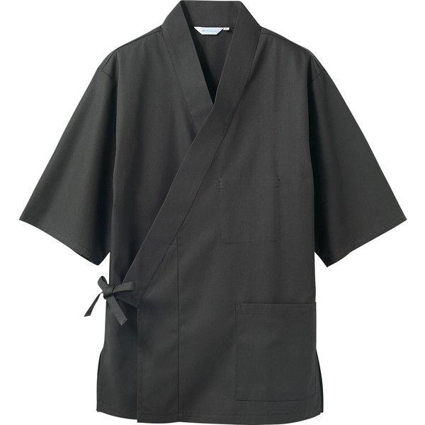 住商モンブラン MONTBLANC(モンブラン) はっぴ 兼用 7分袖 チャコールグレー L 3-556(直送品)